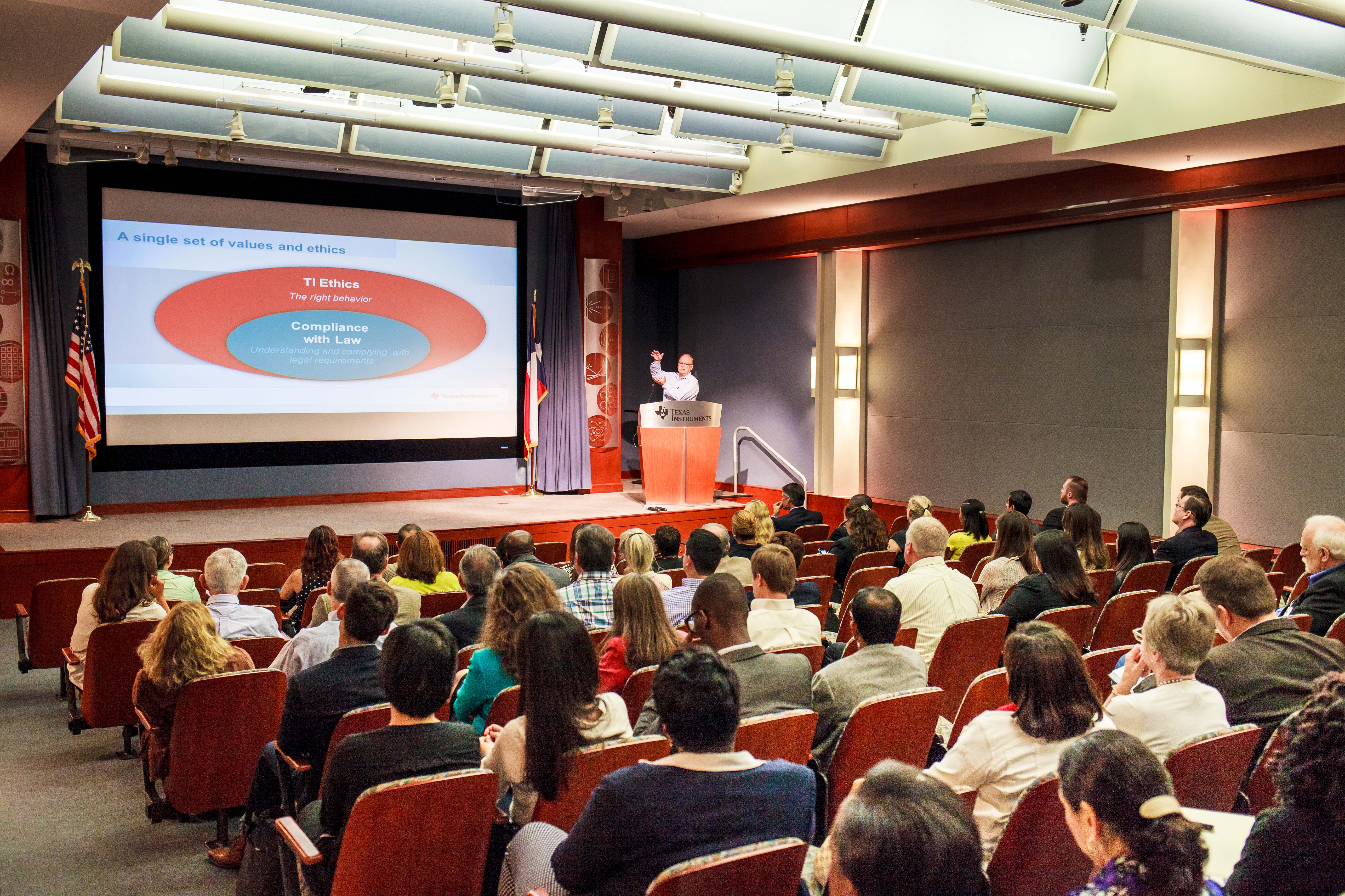 Sustainable Business Network Hosts Texas Instruments Ethics Talk