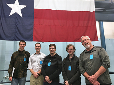 Dr. Flanagan and students at reactor testing in Austin