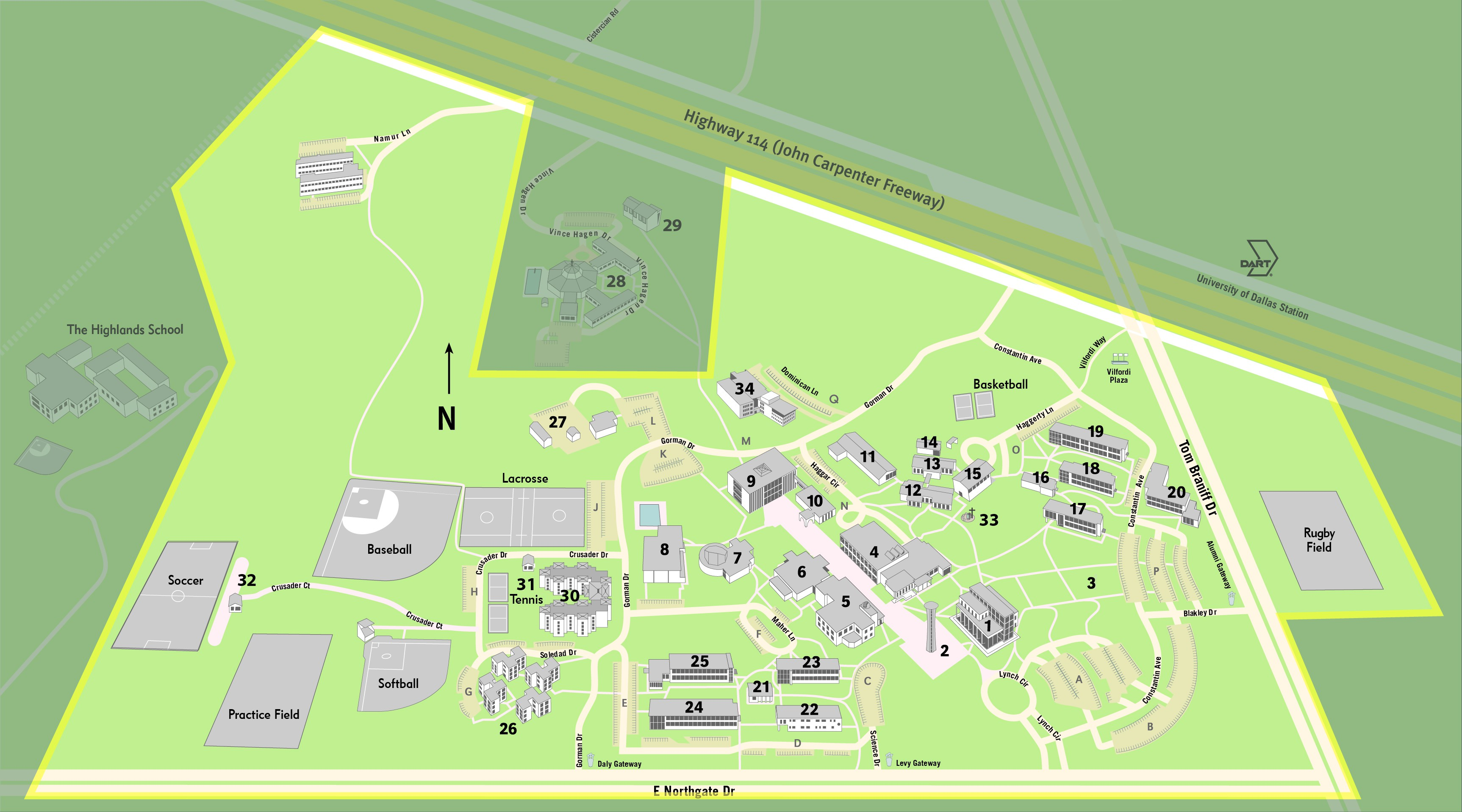 clery campus map 2018